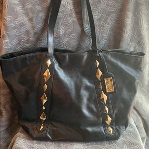 Badgley Mischka tote expandable 2 in 1 bag black